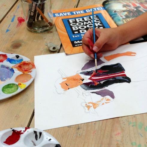 illustration course, arts and crafts camden, workshops for children